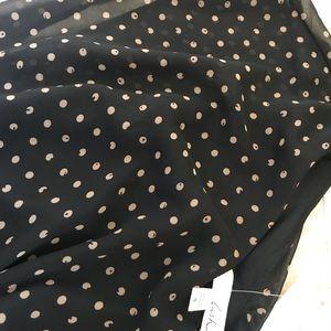 Lush Dresses - Black & Tan Polka dot Dress NEW W TAGS